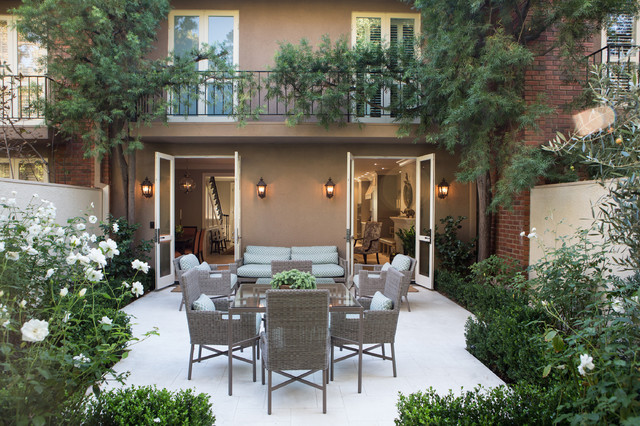 Elegant Townhome In Pasadena Traditional Patio