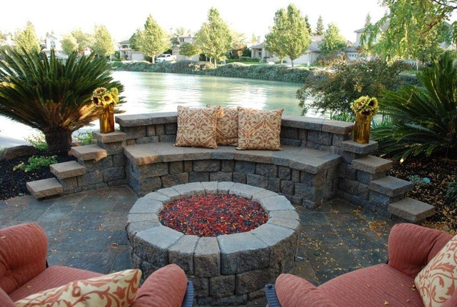 Elk Grove California Pavers for Patio and Pool area contemporary-patio