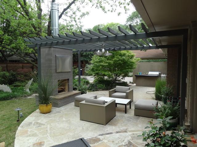 Ellen grass sons contemporary patio dallas by for Home turf texas landscape design llc