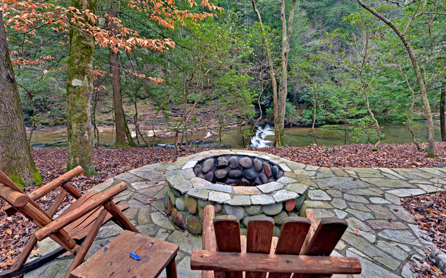 Ellijay Georgia Custom River Home eclectic patio
