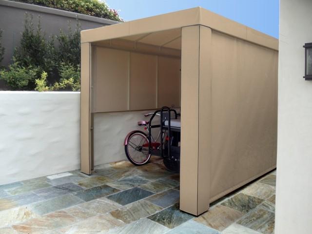 Enclosed Golf Cart Carport Traditional Patio Los