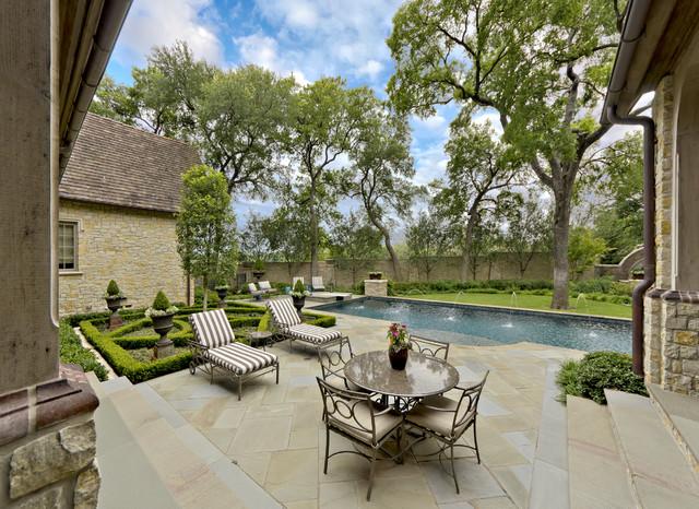English Tudor Estate & Garden traditional-patio