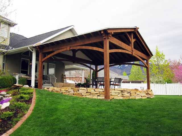 Pavilion For Outdoor Dining & Gazebo Shade Cover For Hot Tub Patio Sa