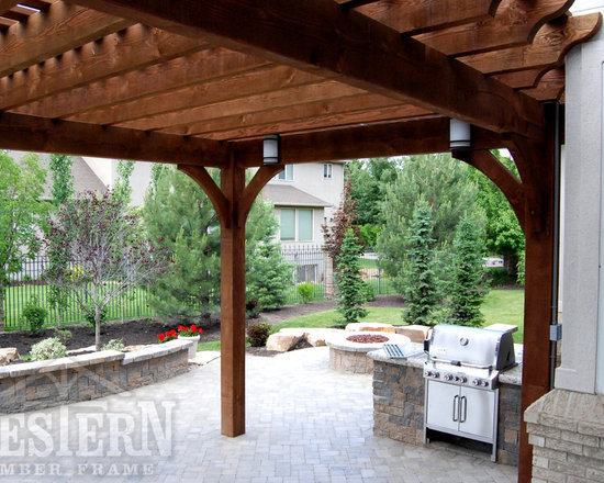 Entertainment Size Pergolas - Western Timber Frame