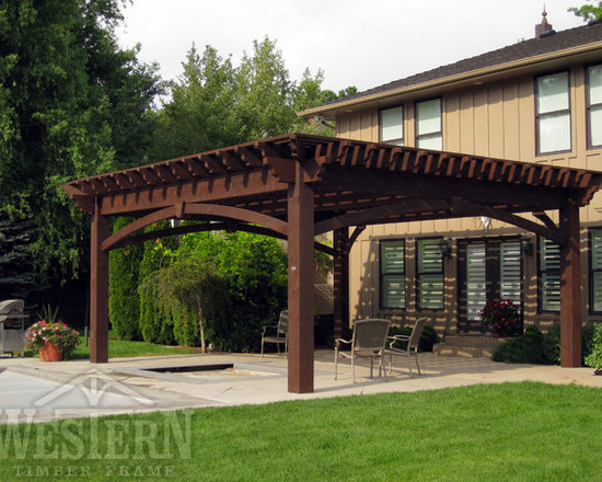 Entertainment Size Pergolas - Western Timber Frame poolside