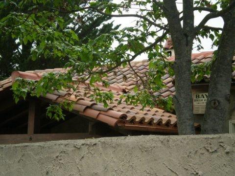 Entry to garden and front door eclectic-patio
