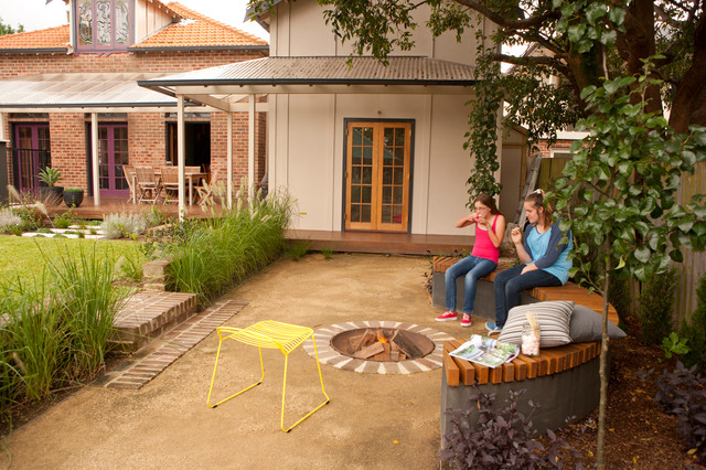 Landscape Garden Epping : Epping family entertainer fire pit transitional