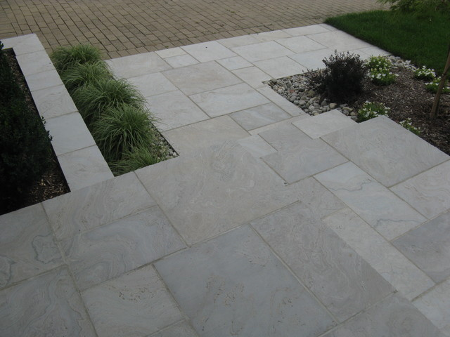 Eramosa Square Cut Flagstone Porchstepwalkway And Retaining Wall