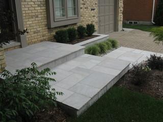 Eramosa Square Cut Flagstone Porch Step Walkway And