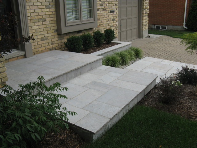 Eramosa Square Cut Flagstone Porch Step Walkway And