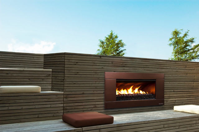 ESCEA Outdoor Gas Florentine Bronze Fireplace - Ferro Front ...