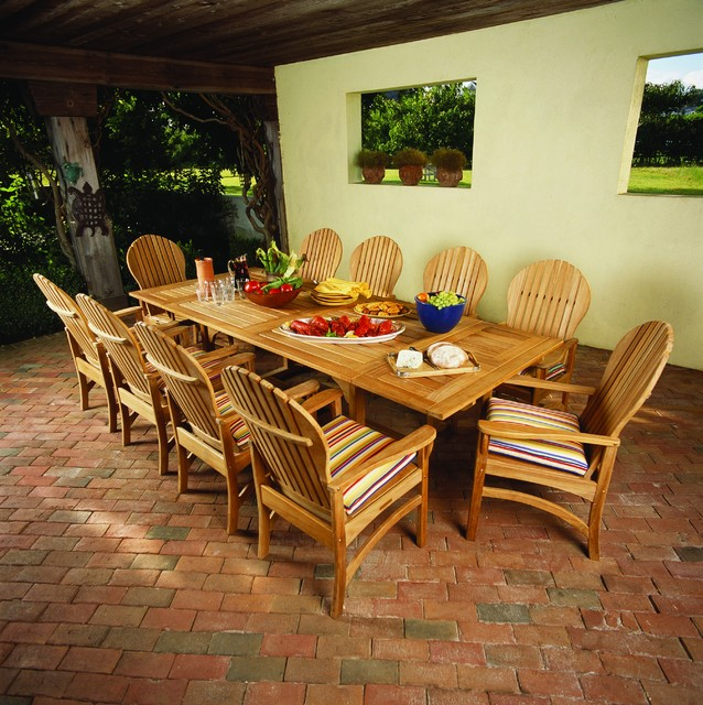 "Essex 106"" Rectangular Extension Table traditional-patio"