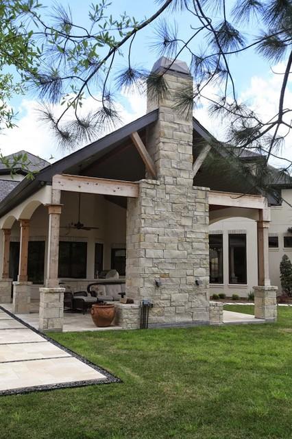 European Estate Home Traditional Patio Houston By