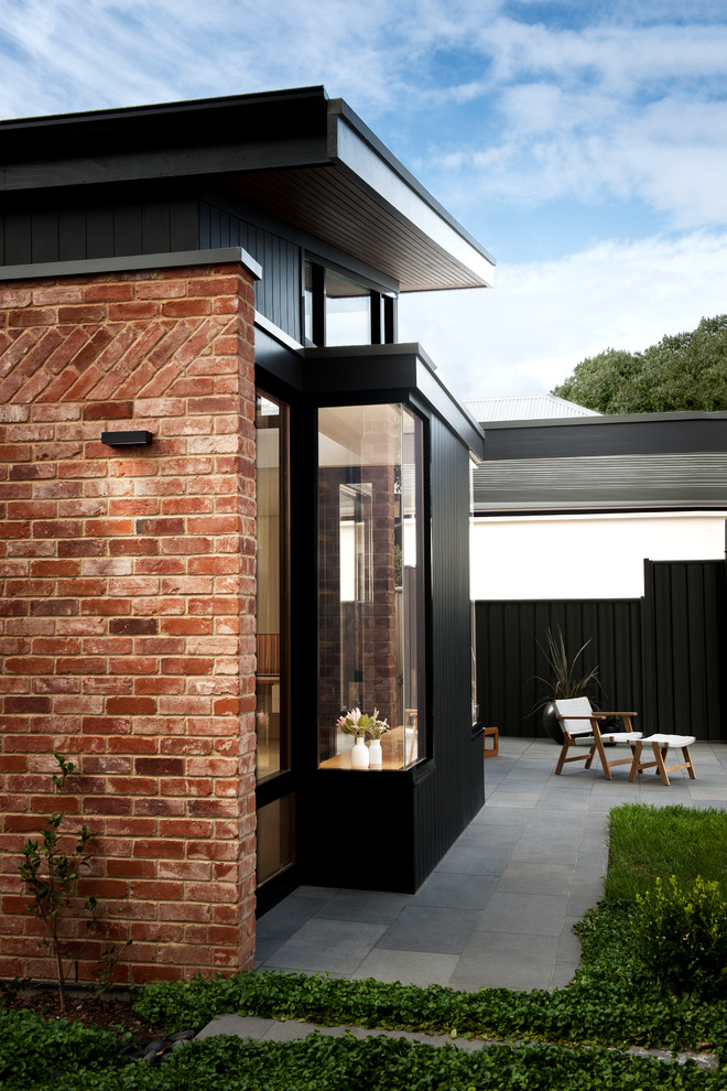 Inspiration for a contemporary backyard patio in Adelaide with no cover.