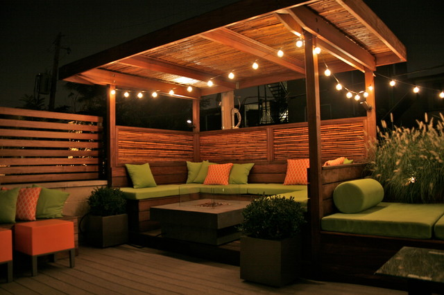 Covered patio decorating ideas - Evening Garden In Wicker Park Eclectic Patio Chicago By