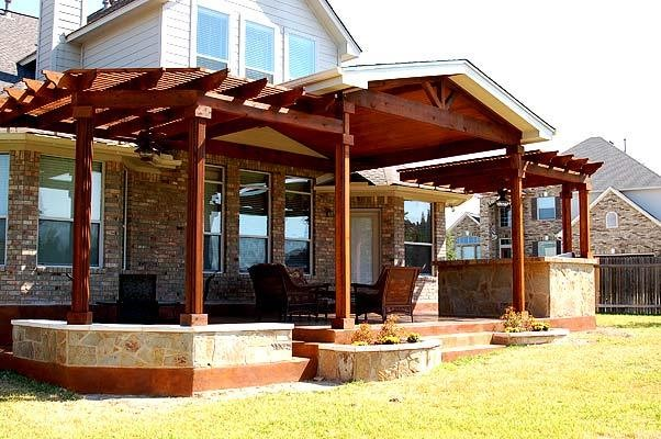 Extended Covered Patio Traditional Patio Austin