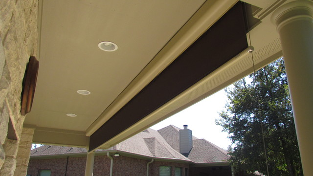 Exterior Motorized Patio Garage Shades Traditional
