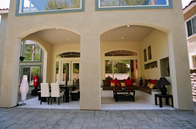 Exterior patio loggia contemporary patio orange for Garden loggia designs