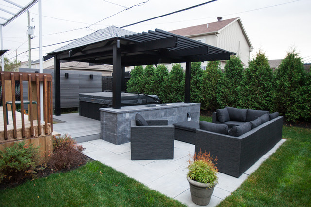 Ext rior project gazebo contemporain terrasse et - Idee terrasse contemporaine ...