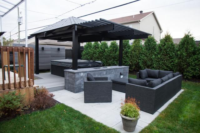 Ext rior project gazebo contemporary patio for Design interieur montreal