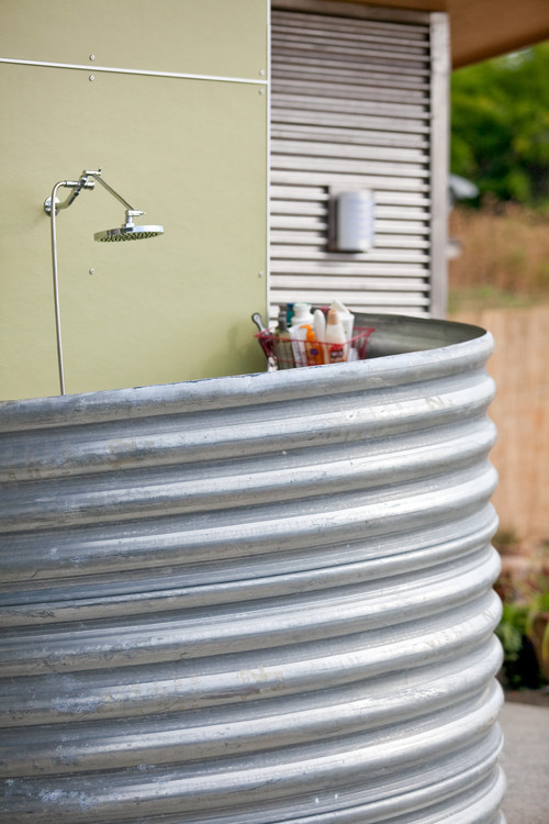 industrial exterior Little Luxuries: Outdoor Showers
