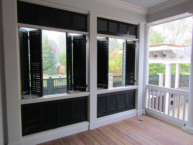 Exterior Shutters And Porch Beach Style Patio