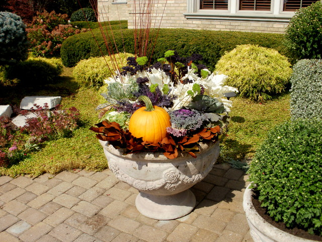 Fall Containers Traditional Patio Chicago By