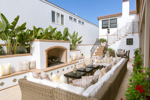 mediterranean-patio Wicker Sectional Sofas