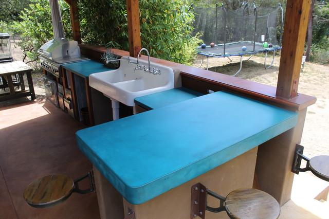 Outdoor Kitchen Countertop Farmhouse Patio San