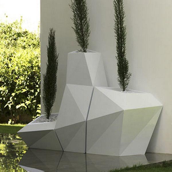 Faz Outdoor Planter Contemporary Outdoor Pots And