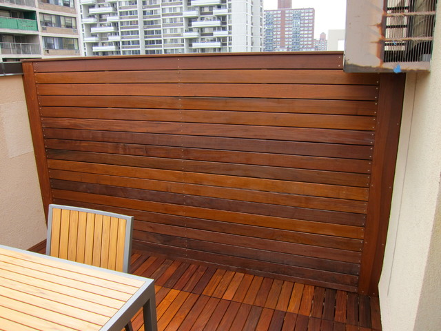 Fences on Rooftops and Backyards NYC modern-patio