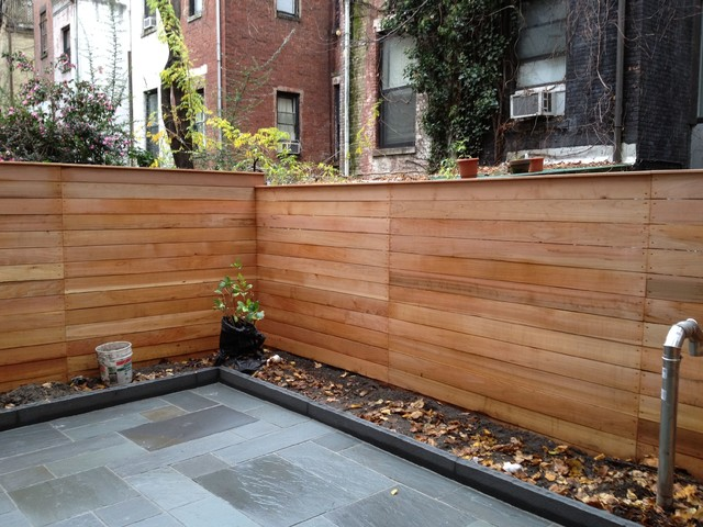 Lovely Fences On Rooftops And Backyards NYC Modern Patio
