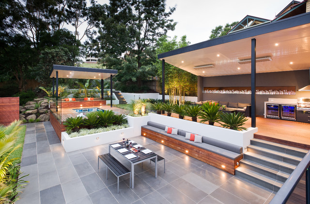 Ferntree Gully Project Contemporary Patio Melbourne By Apex Landscapes Pools