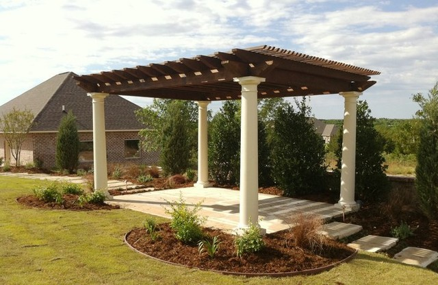 Fiberglass and Cedar Pergola traditional-patio