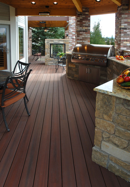 Fiberon Composite Decking Rustic Patio By Fiberon