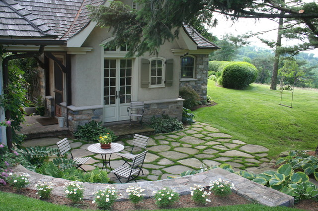 Fieldstone Patio Traditional New York By