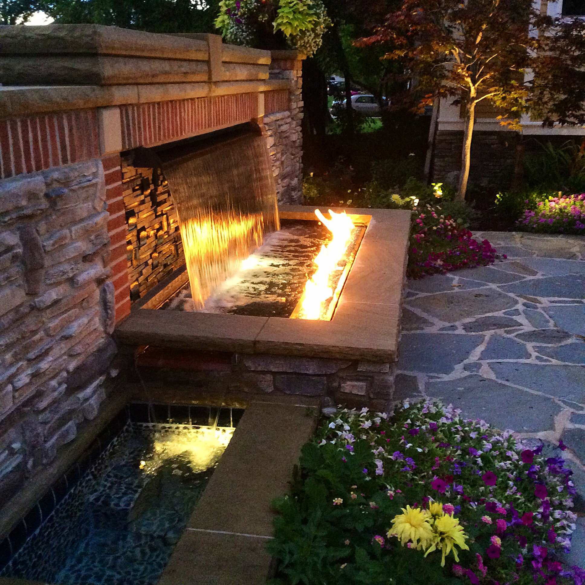 Fire Feature Water fall