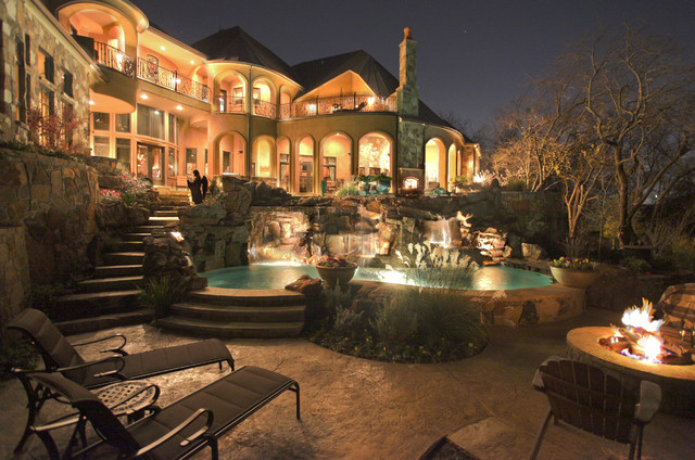 Fire Features eclectic-patio