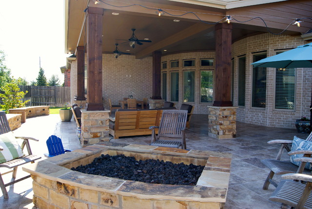 Custom Outdoor Patios :  Custom Patios  Rustic  Patio  houston  by Texas Custom Patios