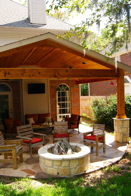 Custom Outdoor Patios :  Custom Patios  Traditional  Patio  Houston  by Texas Custom Patios
