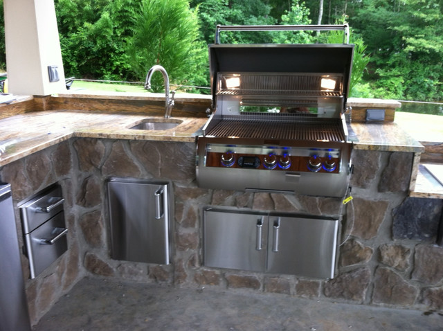 Fire Magic Built In Gas Grill Contemporary Patio