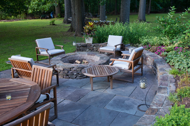 Fire Pit And Patio - Traditional - Patio - New York - By Britney Ou0026#39;Donnell Garden Design