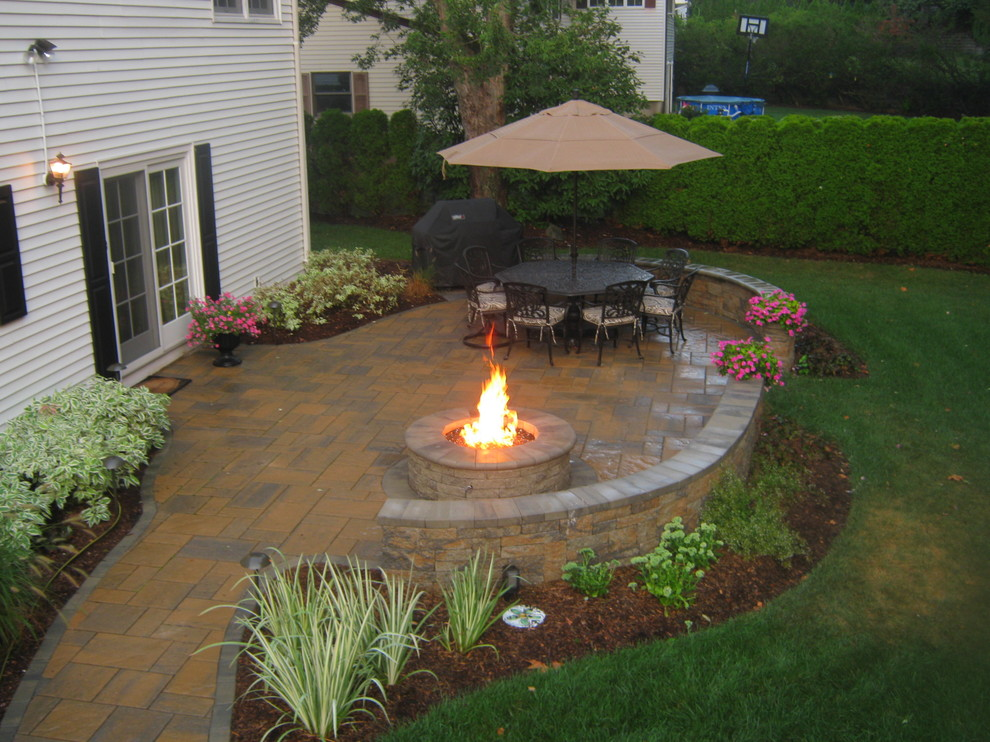 Fire Pit and Patio, Ridgewood, NJ - Traditional - Patio ...