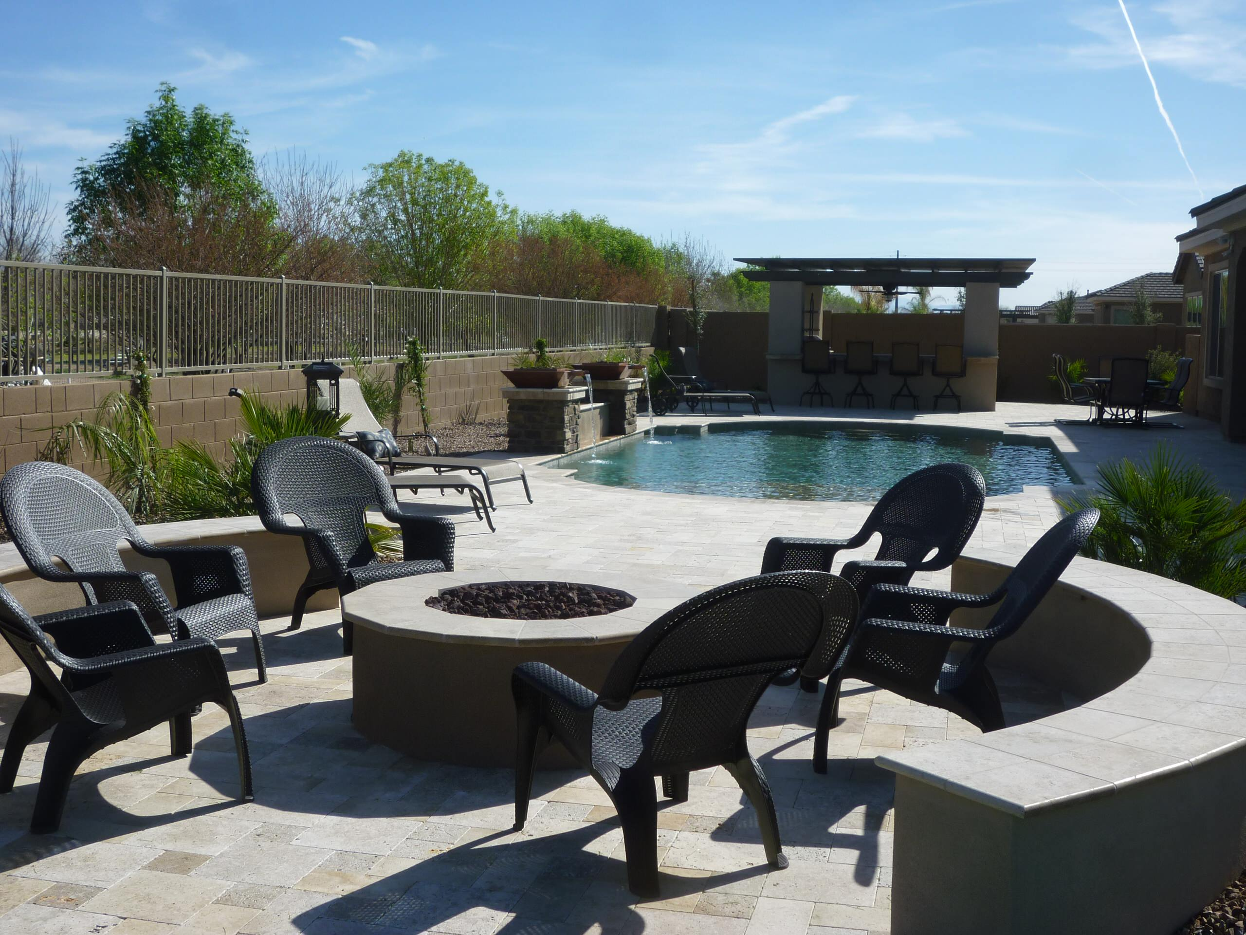 Fire Pit & Pool Area