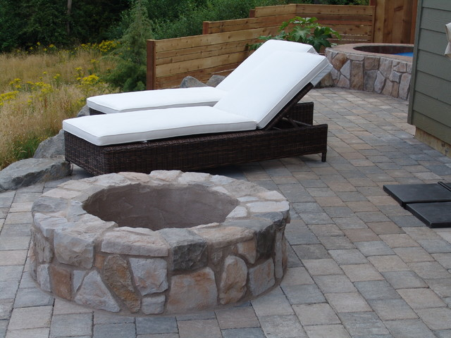 Fire Pit Traditional Patio portland by Brown Bros Masonry