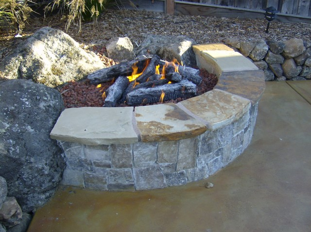 Fire Pit Built Into Slope