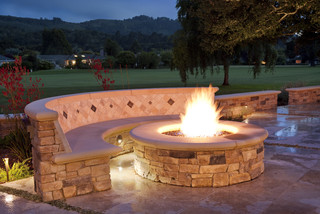 Fire pit - Traditional - Patio - San Francisco - by Claudio Ortiz Design Group, Inc.