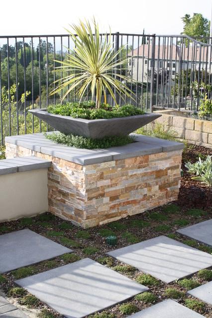 Fire Pit Enhanced Mountain View modern-patio