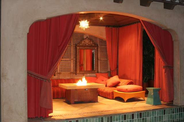 Fire Pit tables and Fire Pits mediterranean-patio