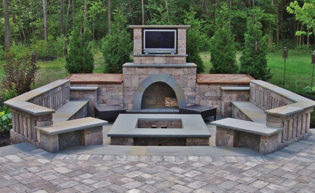 Fire Pit With Tv